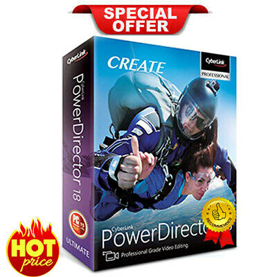 CyberLink PowerDirector Ultimate 18 🔥 Genuine Lifetime License   30s DELIVERY🔥