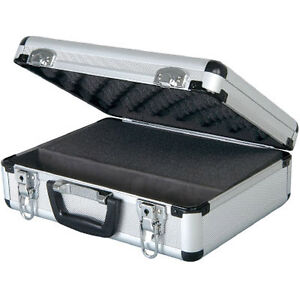 NEW ALUMINIUM MICROPHONE FLIGHT STORAGE CASE HOLDER