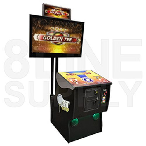 NEW Golden Tee LIVE 2016 / 17 Trackball Pedestal Arcade Machine Golf Game Live