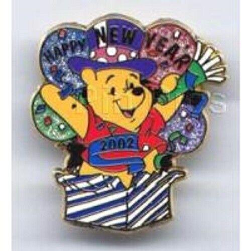 Disney Pin -  Happy New Year 2002 (Pooh)
