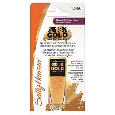 Sally Hansen Nail Hardener - Sally Hansen Treatment 18K Gold Hardener Nail Polish 42496 0.33 Fl Oz NEW