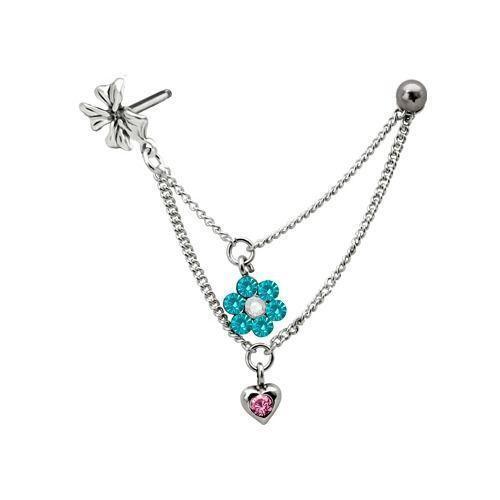 cartilage helix stud earrings ebay