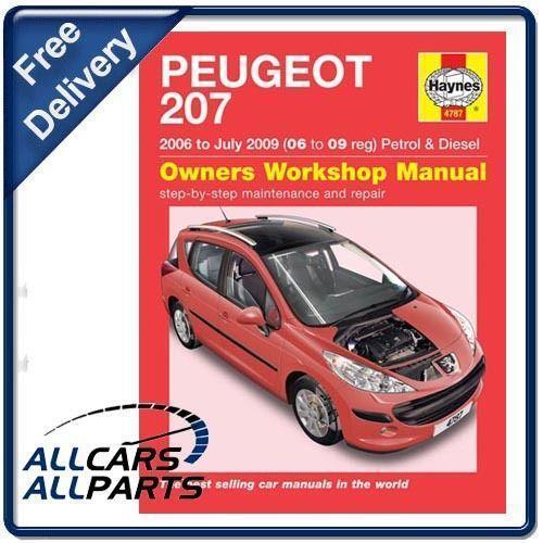 Service Manual Car Manuals Free Online 2006 Mitsubishi: Peugeot 207 Haynes Manual