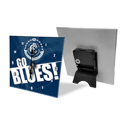 Carlton Blues AFL Mini Analogue Glass Clock Bedside Table Christmas Gift