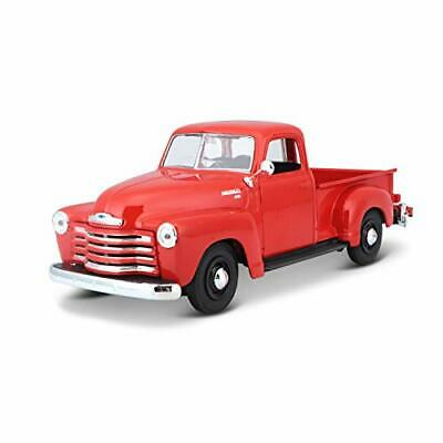 Chevrolet 1950 Pickup Truck Diecast Model Toy Car in Red, Scale 1:25