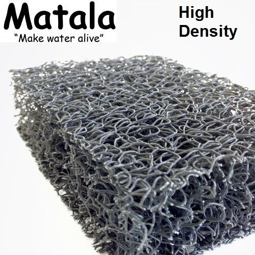 "Gray Matala Pond Filter Mat- 14""x 24"" - High Density -filtration-water-media"