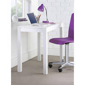 Mainstays Furniture Parsons Desk with Drawer, White NEW