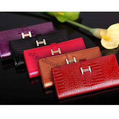 New Crocodile Pattern  Genuine Leather Women Clutch Wallet H