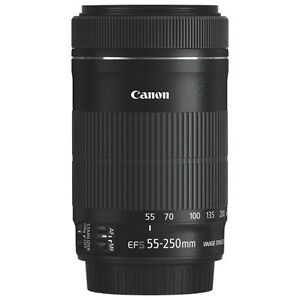 Canon EF-S 55-250mm f/4-5.6 IS STM Lens NEW IN BOX NEVER USE/NE