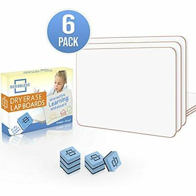 6 Pack Dry Erase Lap Board 9x12 Interactive Learning Whiteboard Educatio