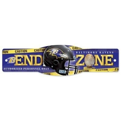 BALTIMORE RAVENS ~ (1) NFL End Zone Wall Display 4 x 17 Street Sign Decoration