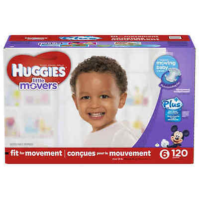 Huggies Little Movers Plus Diapers Size 6 120 Ct SEALED!!!
