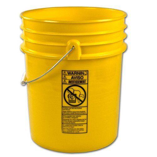 Premium Yellow 5 Gallon Bucket