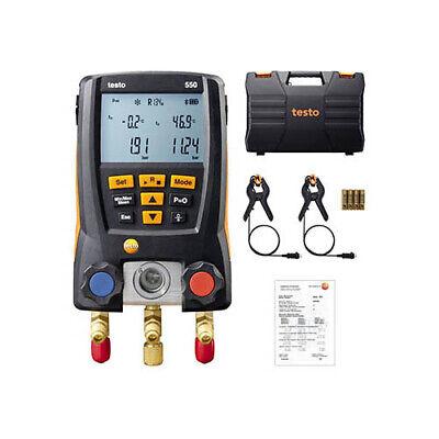 Testo 0563 1550 - 550 Digital Manifold Kit W Bluetooth Clamp Probes