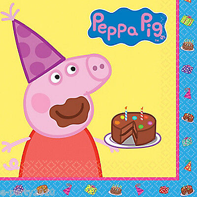 PEPPA PIG LUNCH NAPKINS (16) ~ Birthday Party - Nickelodeon Party Supplies