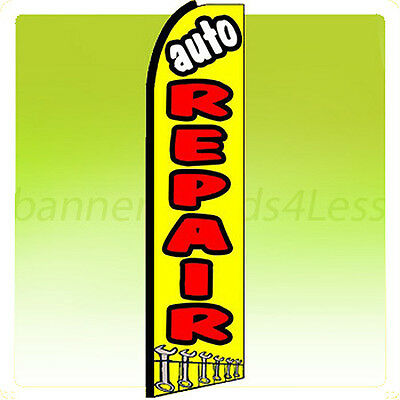 Auto Repair Swooper Flag Feather Flutter Banner Sign 11.5 - Yq