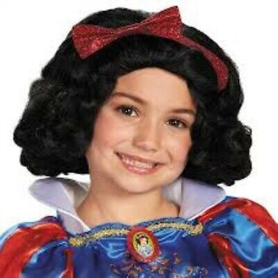 Snow White Wig Child (Snow White Wig Halloween Child Size Kids Wig Disney Princess Snow White Size)