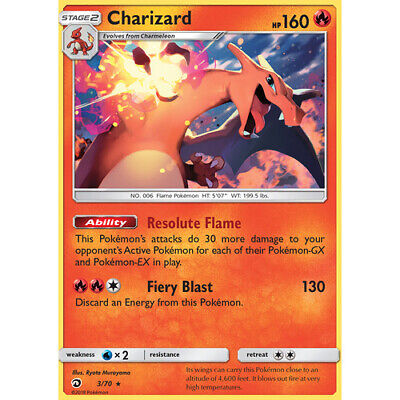 Pokemon TCG Charizard 3//70 NON HOLO Dragon Majesty Alternate Promo NM//M SKU#376