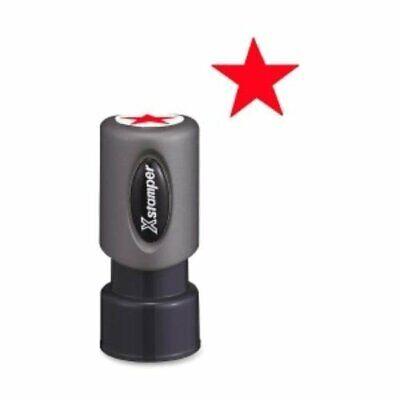 Xstamper 11309 Pre-inked Star Shape Stamp - Design Stamp -red Star