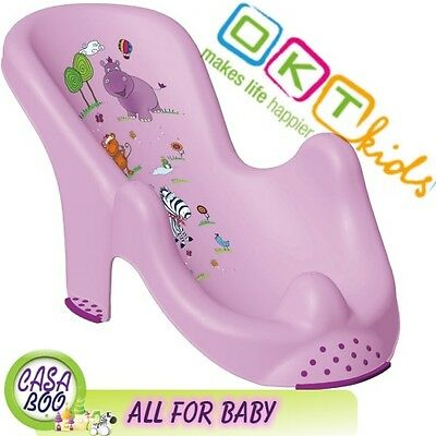 "Anatomic baby bath  chair tub seat  ""Hippo"" OKT Kids -IML techn. Brand NEW Purpl"