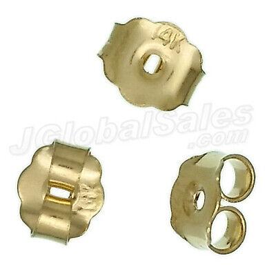 Genuine 14K Yellow Gold Butterfly Earrings Backs Clutches Ear Nuts Findings 14k Yellow Gold Butterfly Earrings