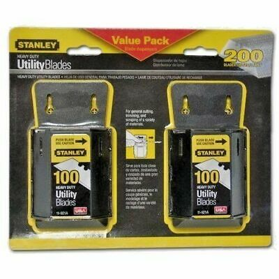 Stanley 94-849 11-921A 2-100 Pack Heavy Duty Utility Blades -