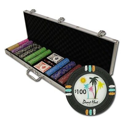 New 600 Desert Heat 13.5g Clay Poker Chips Set with Aluminum Case - Pick Chips!