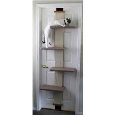 SmartCat Multi Level Door Hanging Pet Cat Climber Scratching Post Tower