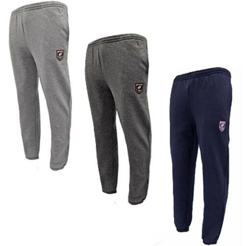 MEN`S NEW LOTTO CUFFED JOGGERS TRACKSUIT BOTTOMS RUNNING JOGGING BLACK
