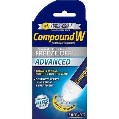 Compound W Freeze Off Advanced Wart Solution  15 Treatments  Exp  10 2019