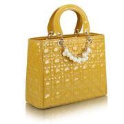Yellow Patent Leather Handbag