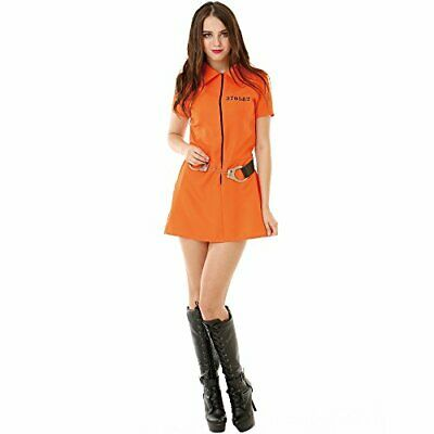 Intimate Inmate Women's Halloween Costume – Orange Jailbird Jumpsuit