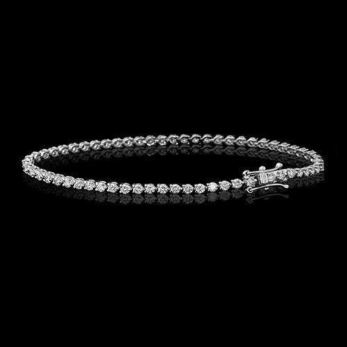 5.00ct Three Prong Round D VVS1 Diamond Bracelet 14K White Gold Tennis Bracelet