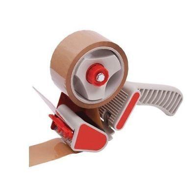 50mm Heavy Duty Metal Packing Tape Parcel Hand Dispenser Gun + 1 Free Roll Tape