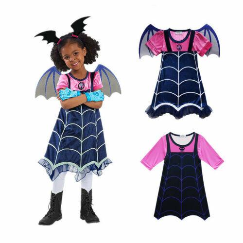 Vampirina Mädchen Kinder Kleider Party Cosplay Karneval Kostüm Fancy Outfits DE