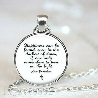 Inspired Silver Pendant Necklace, Albus Dumbledore Quote -
