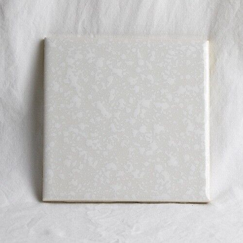 Vintage Florida Tile -  White Beige Speckled Textured-RARE RETRO!!!