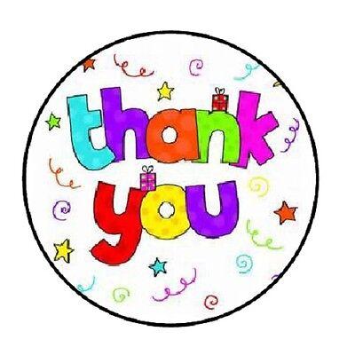 48 Thank You Swirls     Envelope Seals Labels Stickers 1 2  Round