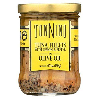 Tonnino Tuna Fillets - Lemon and Pepper, Olive Oil - Case of 6-6.7 (Tonnino Tuna Fillets)