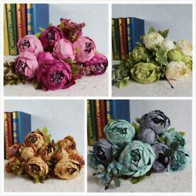 50CM 1 Bouquet Artificial Fake Peony Silk Flower Bridal Hydrangea Wedding Party
