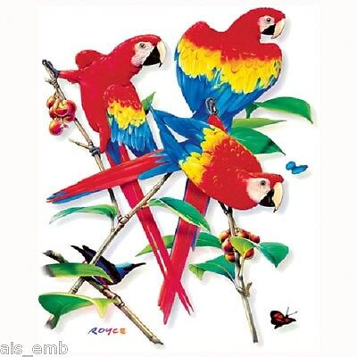 Scarlet Macaw Parrot Heat Press Transfer For T Shirt Tote Sweatshirt Fabric 208a