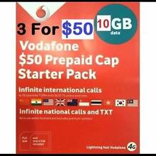 $50 Vodafone Starter Packs - 3 for $50 - YES 3 for $50 BARGAIN !! Castle Hill The Hills District Preview