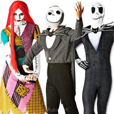 The Nightmare Before Christmas Adults Fancy Dress Halloween Mens Ladies - Halloween Costumes Nightmare Before Christmas