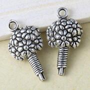 Tibetan Silver Flower Charms
