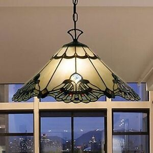 Tiffany Style Lamp Hanging Ceiling Swag Pendant Chandelier Stained Glass 20