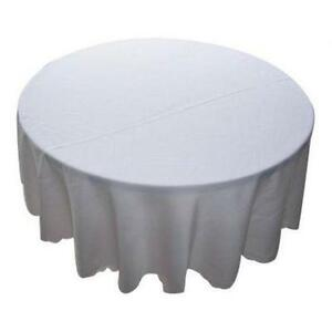 White Round Polyester Tablecloths