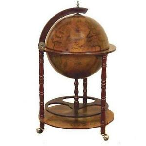 antique globe bar