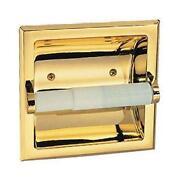 polished brass toilet paper holder