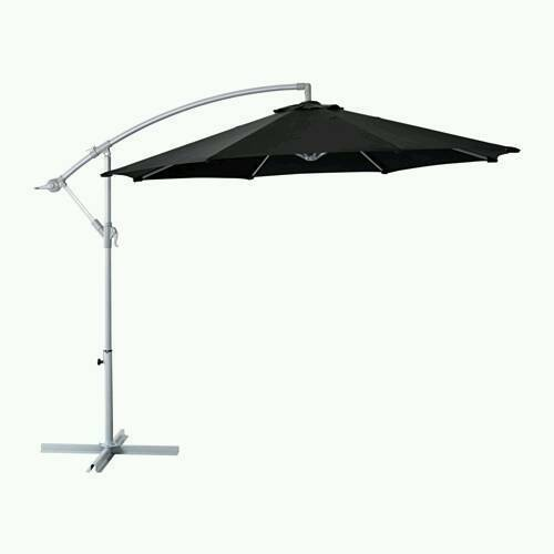 Exceptionnel IKEA KARLSÖ Parasol, Hanging, Black With 4x ASDA 14kg Weights
