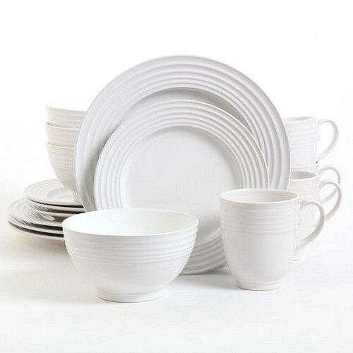 gibson home stanza 16piece dinnerware set white